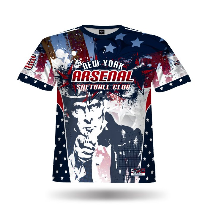Uncle Sam Navy & Red Full Dye Jersey