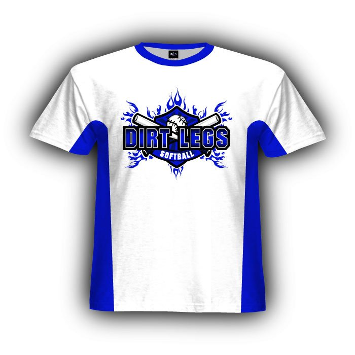 White Royal & Black Standard Paneled Jersey