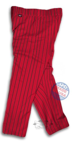Pinstripe Softball Pants: Red