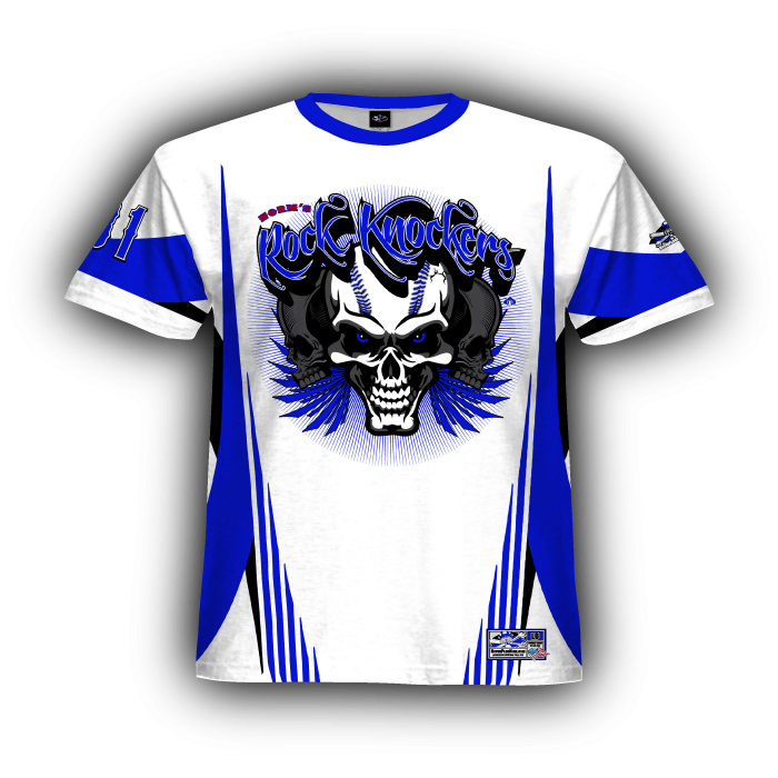 Combat Royal & White Full Dye Jersey