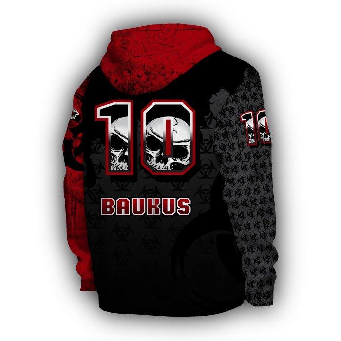 Mudslingers Red & Black Full Dye Hoodie