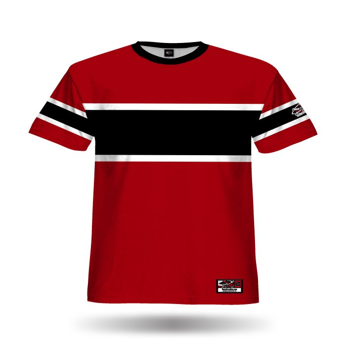 Retro White Sox Red & Black Full Dye Jersey Front