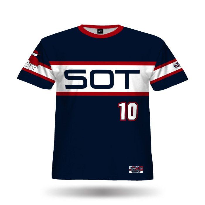 Retro White Sox Navy & White Full Dye Jersey Front