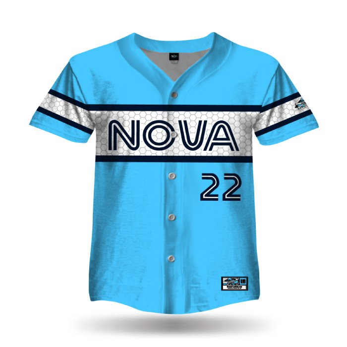 Retro White Sox Columbia Blue Full Dye Full Button Jersey