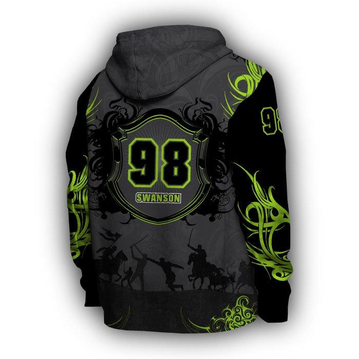 Crest Lime & Black Full Dye Hoodie