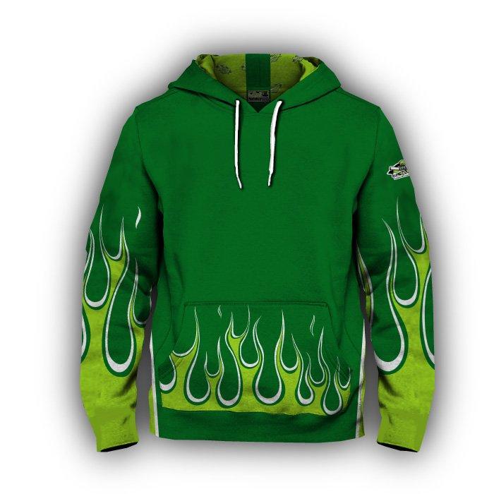Flame Blank Full Dye Hoodie Front