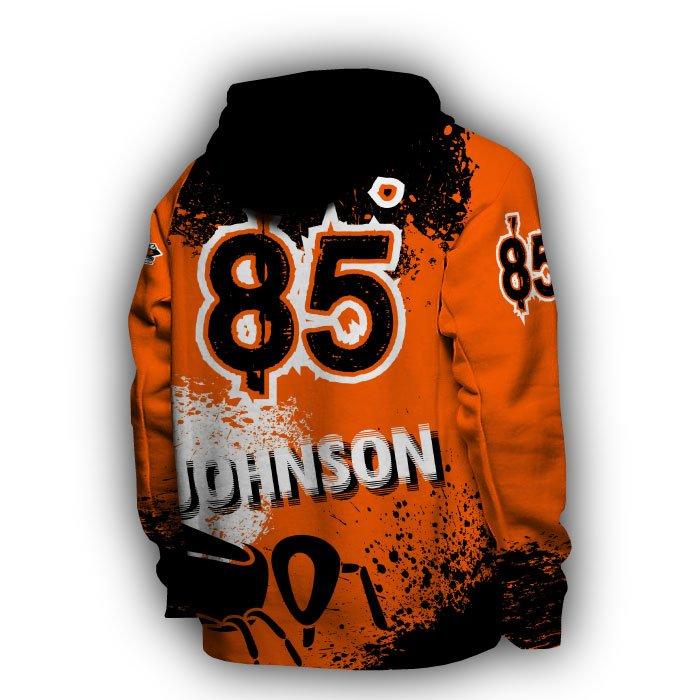 Splatter II Orange & Black Full Dye Hoodie