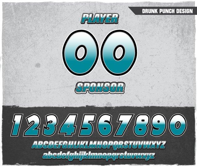 Drunk Punch Number Design