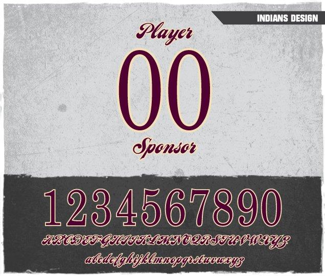 Indians Number Design