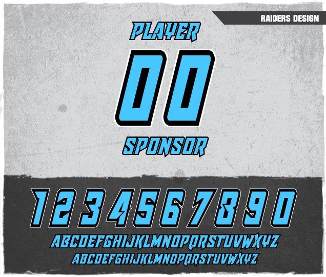 Raiders Number Design