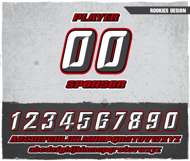Rookies Number Design