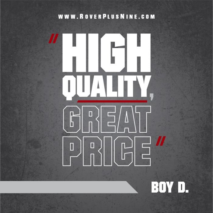 Testimonial - High quality, great price