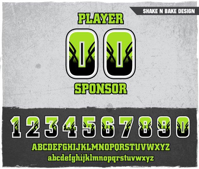 Shake N Bake Number Design