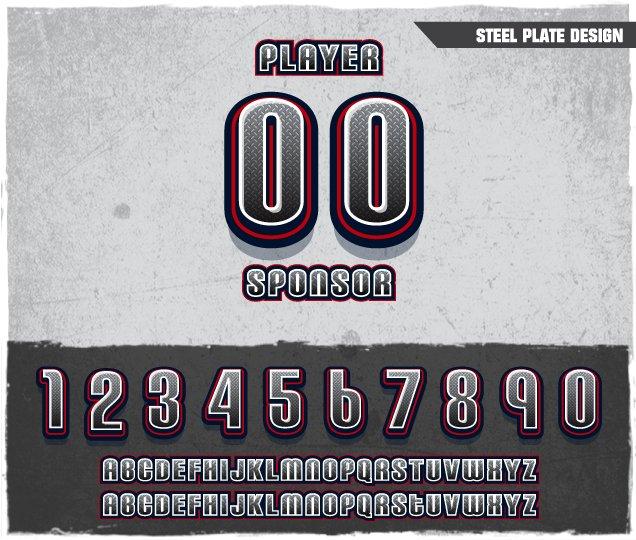 Steel Plate Number Design