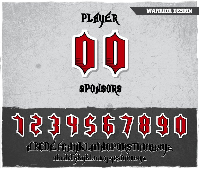 Warrior Number Design