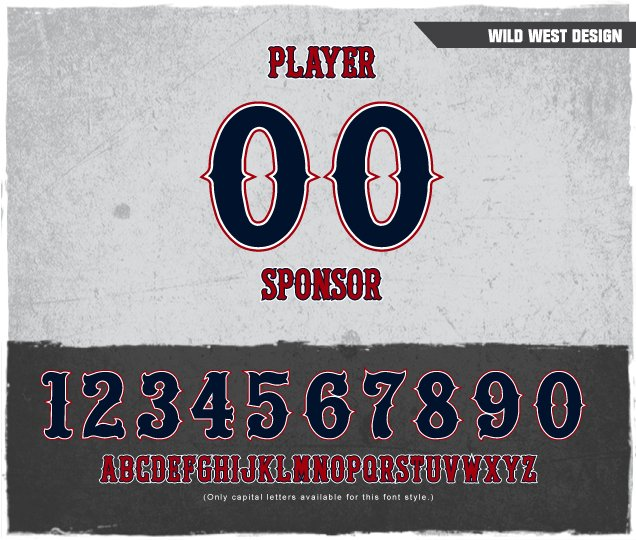 Wild West Number Design